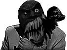 Sticker risitas jesus horreur creepy monstre