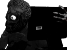 Sticker risitas creepy ordinateur alien