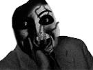 Sticker risitas creepy issou monstre