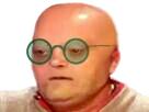 Sticker risitas celestin chauve lunette lunettes