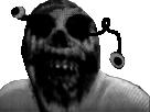 Sticker creepy risitas yeux
