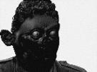 Sticker creepy risitas monstre