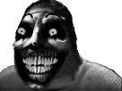 Sticker risitas creepy smile monstre