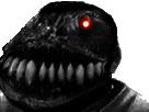 Sticker risitas creepy monstre abominable