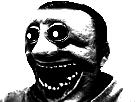 Sticker risitas creepy monstre issou