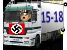 Sticker jvc go 15 18 pyj dechet gamin camion deportement