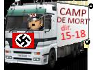 Sticker risitas go 15 18 pyj dechet gamin camion deportement