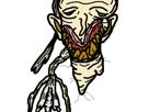 Sticker risitas creepy monstre omg chicots