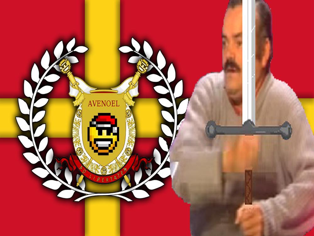 Sticker risitas avenoel drapeau v2 guerrier
