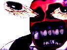 Sticker creepy risitas monstre omg bizarre issou