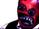Sticker risitas creepy omg monstre bizarre issou