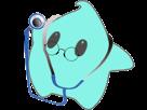 Sticker other luma docteur medecin stethoscope lunettes rondes bleu etoile cfw