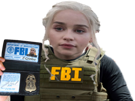 Sticker other khaleesi fbi police