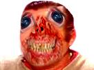 Sticker risitas demon omg bizarre creepy monstre