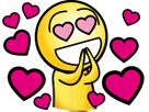 Sticker jvc coeur love emu amour