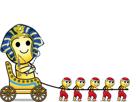 Sticker jvc pharaon egypte happiste noeliste esclave noel or dieu roi