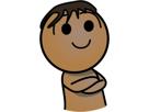 Sticker jvc arabe barbe brun
