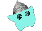 Sticker other luma fou chapeau aluminium tinfoil hat dingue tare complotiste etoile bleu cfw