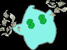 Sticker other luma argent money rain pluie etoile cfw bleu dollar euro