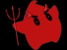 Sticker other luma diable diablotin rouge fourche trident corne yeux rouges etoile cfw