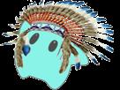 Sticker other luma indien ugh hugh hug salut plumes coiffe amerique etoile bleu cfw
