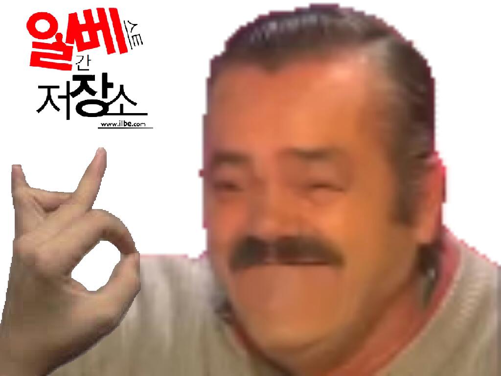 Sticker risitas doigt coree sud ilbe signe elite