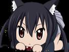 Sticker kikoojap akame ga kill kurome chibi chat cute
