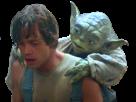 Sticker risitas yoda luke starwars star wars