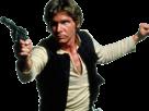 Sticker han solo hansolo harrison ford star wars flingue vise gun pistolet laser