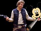 Sticker other han solo hansolo harrison ford star wars 7 8 pistolet laser mickey joint fume disney