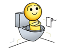 Sticker jvc toilette wc chiasse caca saumon