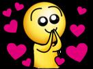 Sticker risitas cute saumon coeur amour rose