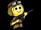 Sticker jvc saumon hap fusil armee soldat