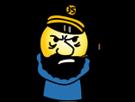 Sticker jvc lorient captain haddock saumon