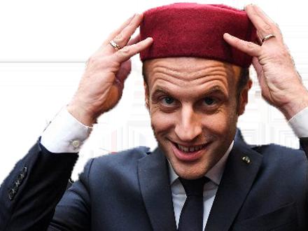 Sticker other macron ali qlf marocain otf president president