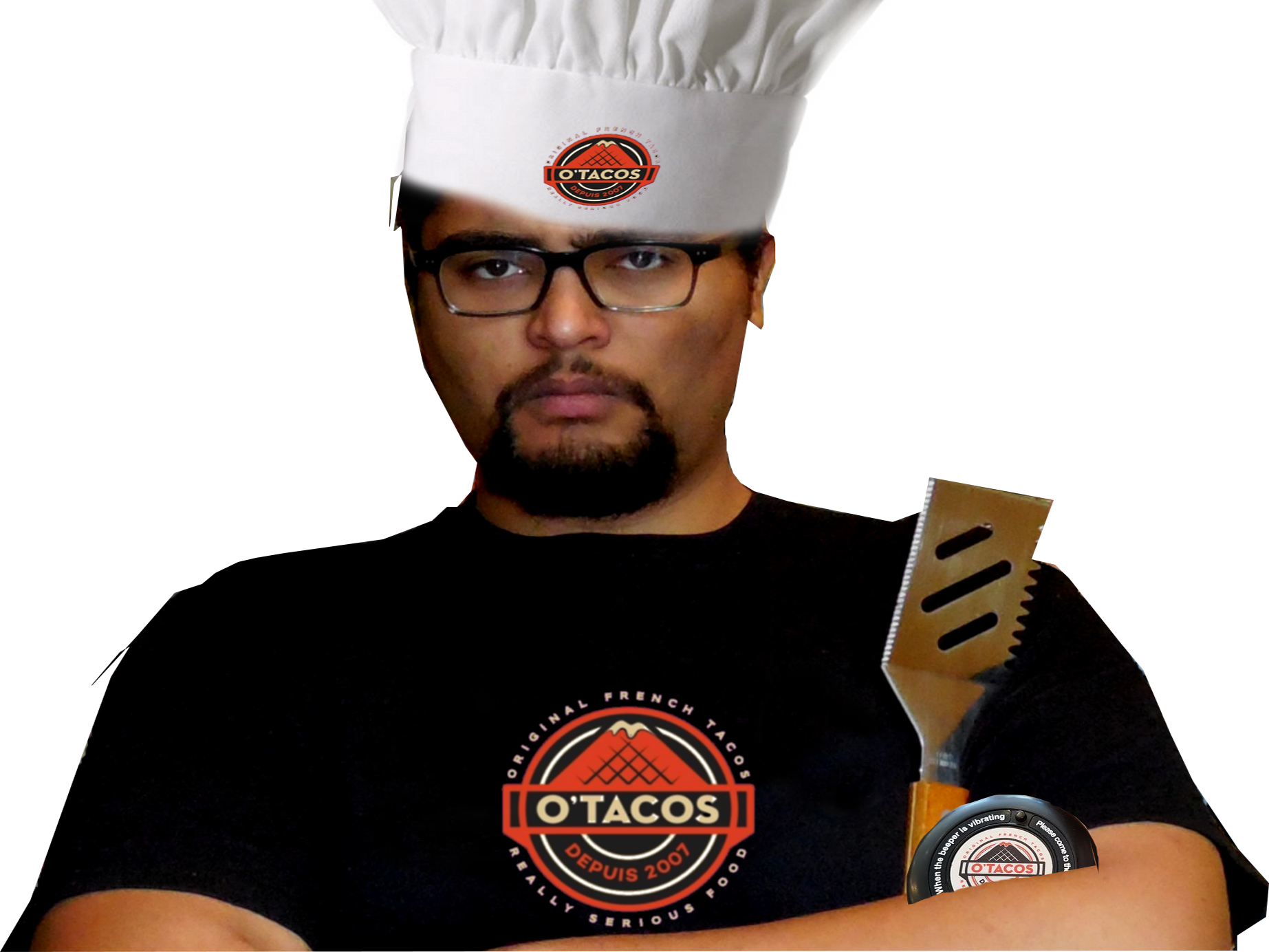 Sticker other le chef otaku otacos tacos