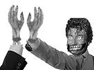 Sticker risitas check horreur delire monstre main salut terreur
