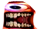 Sticker risitas creepy difforme monstre issou aya bordel