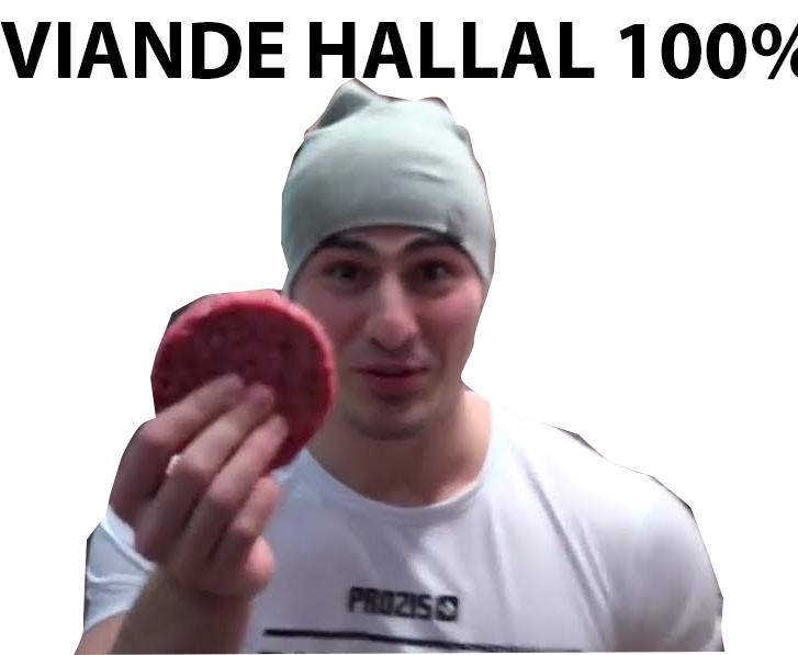 Sticker jvc ibra hallal ibratv burger sueur