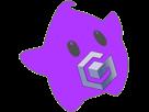 Sticker other luma gamecube logo nintendo violet etoile cfw