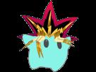 Sticker other luma yugi muto yugioh yu gi oh jeu cartes anime gulli cheveux ridicule coupe debile pointes heure du duel dudududuel etoile cfw