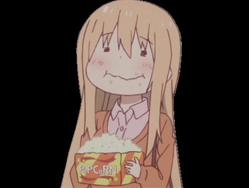 Sticker kikoojap umaru pop corn popcorn jenseth