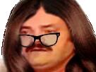 Sticker risitas meuf fille femme travesti lunettes risitasse sfu