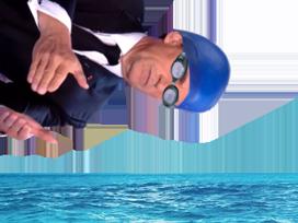 Sticker politic sarkozy plongeon piscine nicolas president tf1 bonnet de bain