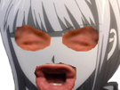 Sticker politic kyoko danganronpa kage regard hurle crie eussou yeux bouche