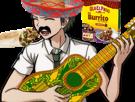 Sticker kikoojap hajime hinata danganronpa mexique guitare jenseth