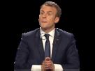 Sticker politic macron debat zen