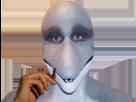 Sticker risitas animal masque dauphin alkpote