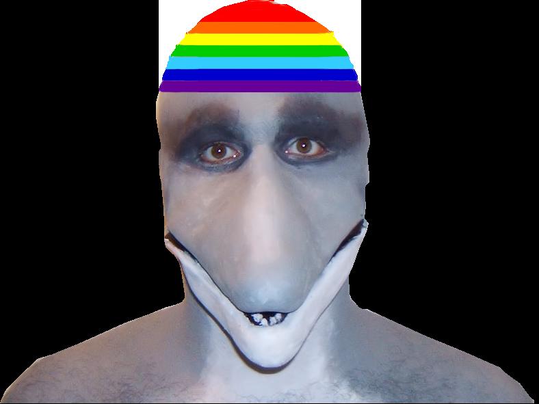Sticker risitas animal masque dauphin lgbt