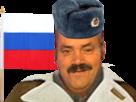 Sticker risitas russe russie coupe 2018 drapeau
